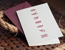 Knot Wedding Card