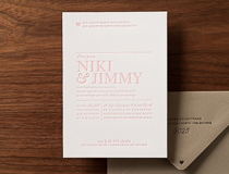 Sweet Pink Wedding Invitation
