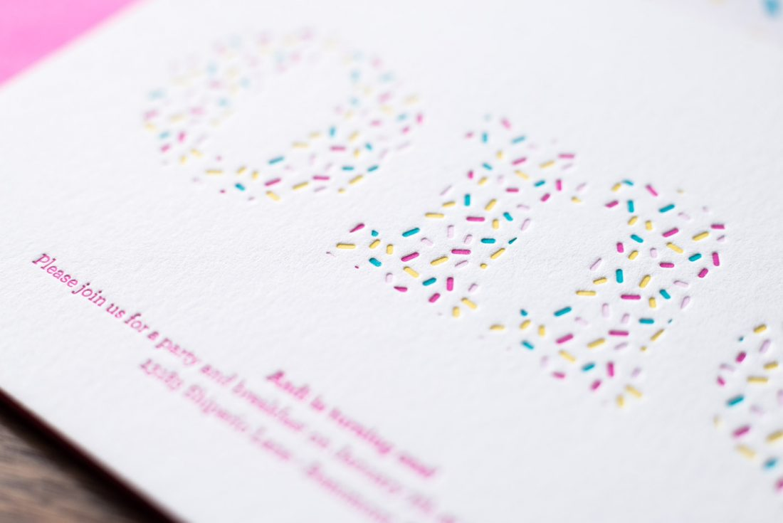Sprinkle themed first birthday noteworthy letterpress sprinkle themed first birthday filmwisefo