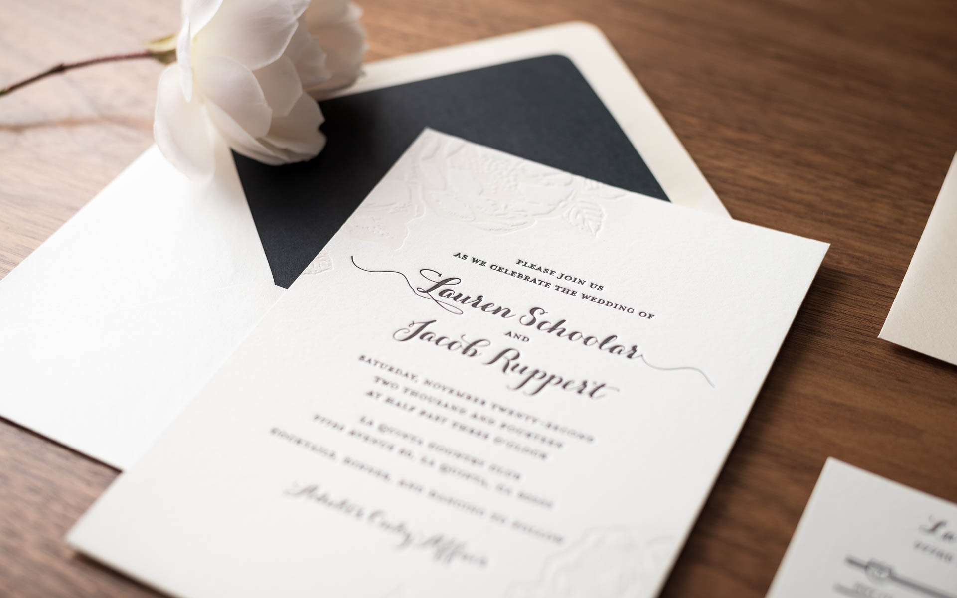 Noteworthy Letterpress - Custom Letterpress Wedding Invitations and ...